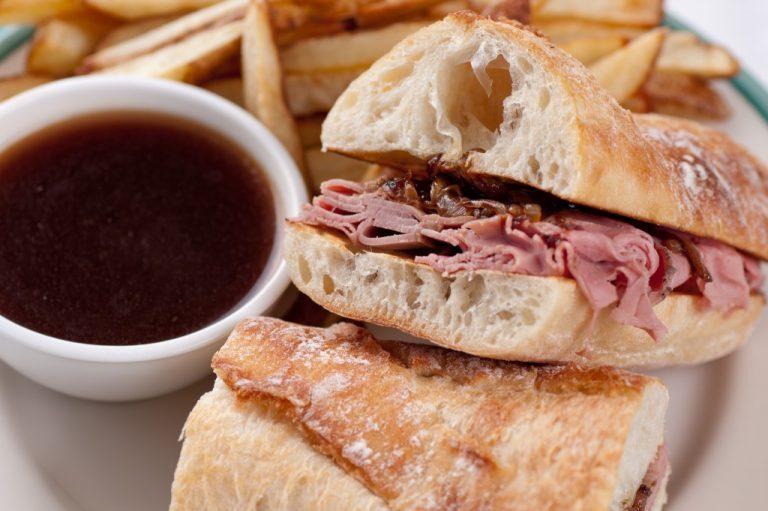 ham sandwich and coffee